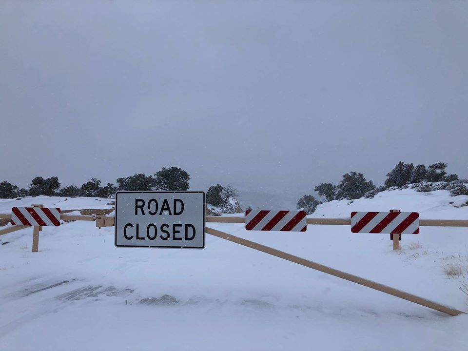 Canyonlands National Park closure due to heavy snow