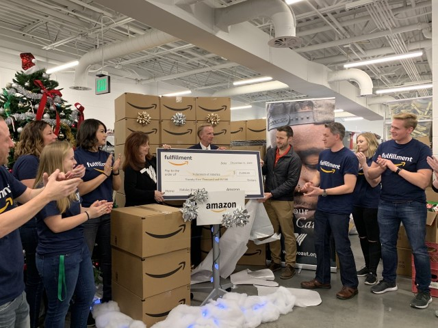 Amazon presents Volunteers of America, Utah with $30K donation to fight homelessness