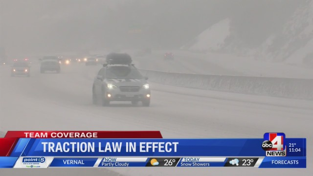 UHP: Snow means traction law may be enforced up canyons