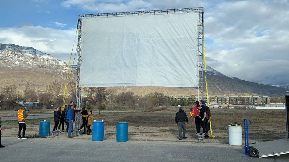 Utah county cinema turns into drive-in