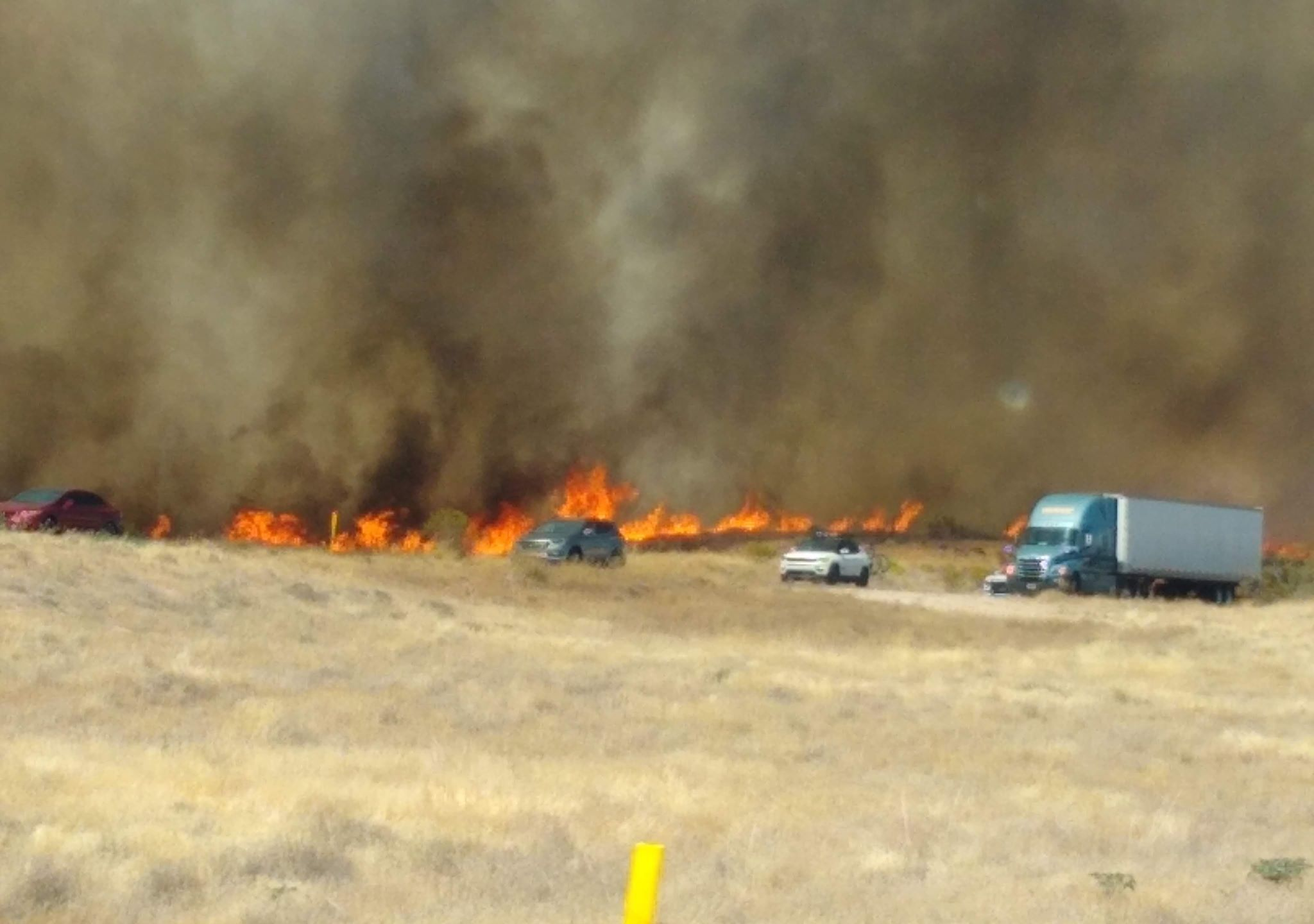 Cottonwood Trail Fire in Washington County threatening homes and roadways near Leeds, Sunday, July 19, 2020.