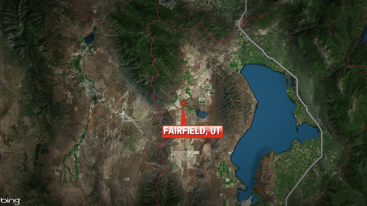 Map showing Fairfield, Utah, where a body of a lehi man was found Saturday, July 18, 2020