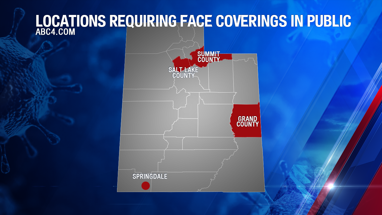 Map: What areas in Utah are requiring face masks