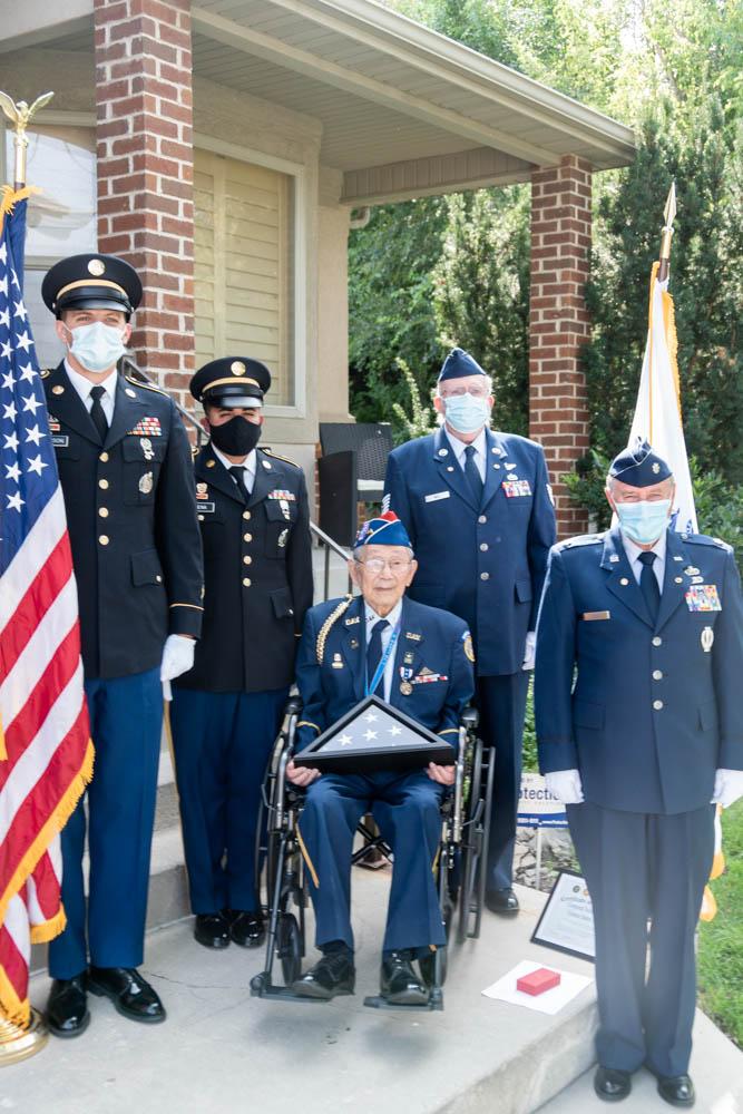Japanese-American World War II Veteran honored with Honor Salute Ceremony