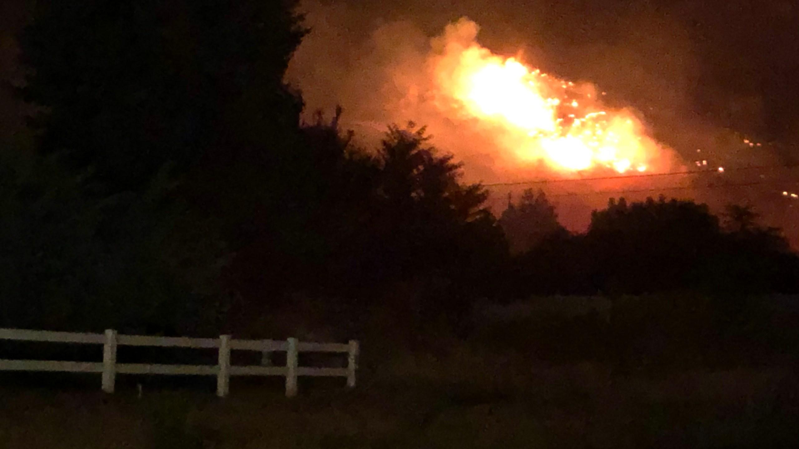 Battle Creek 2 Fire burning above Pleasant Grove, Utah, Saturday, September 12, 2020.