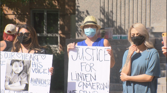 A rally outside the Ogden Municipal Building on Saturday, September 12, 2020, following the Salt Lake City Police shooting of a 13-year-old boy with autism.