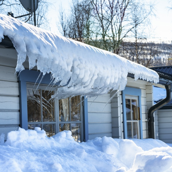 Ice and snow on roof