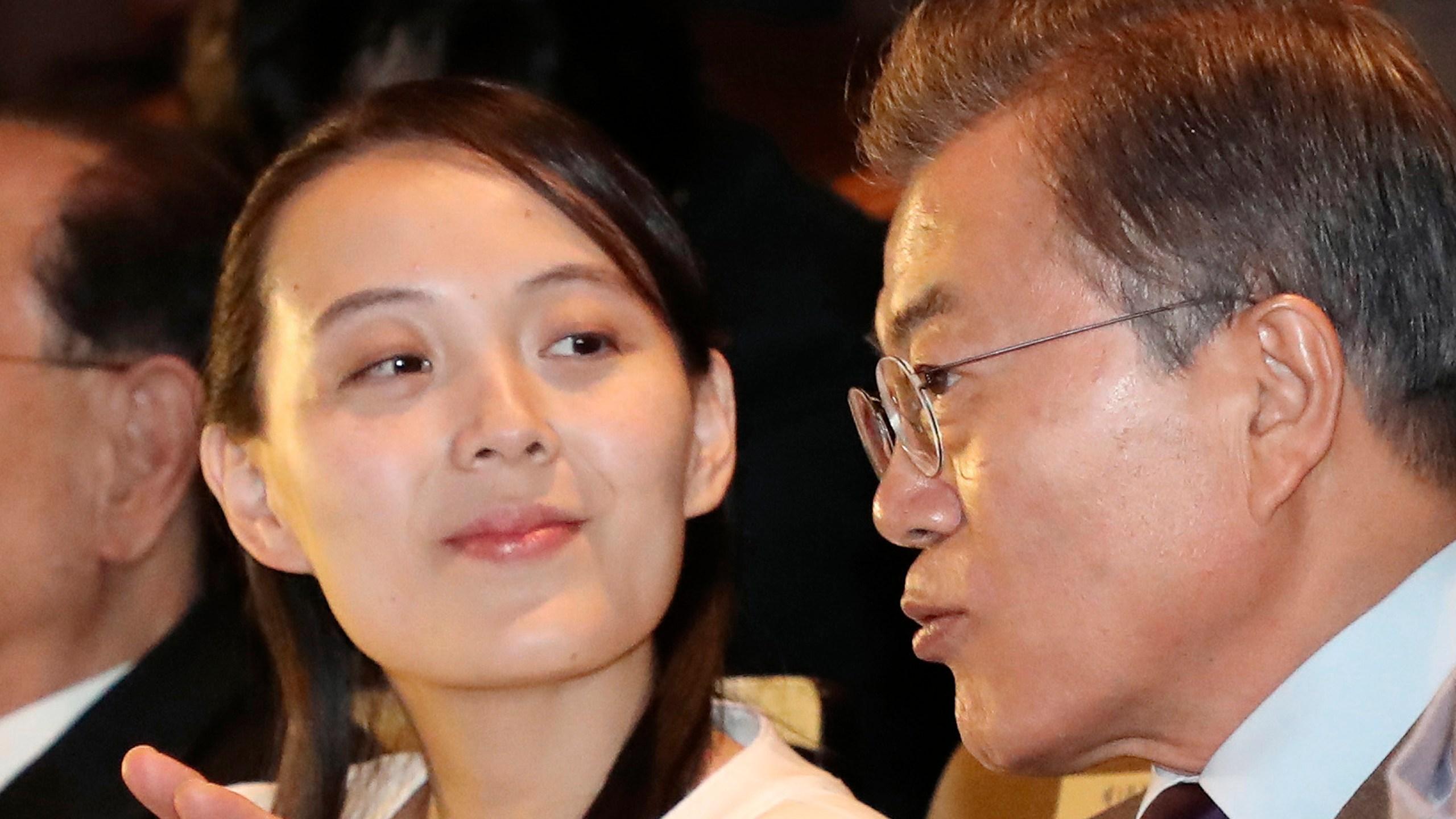 Kim Yo Jong, Moon Jae-in