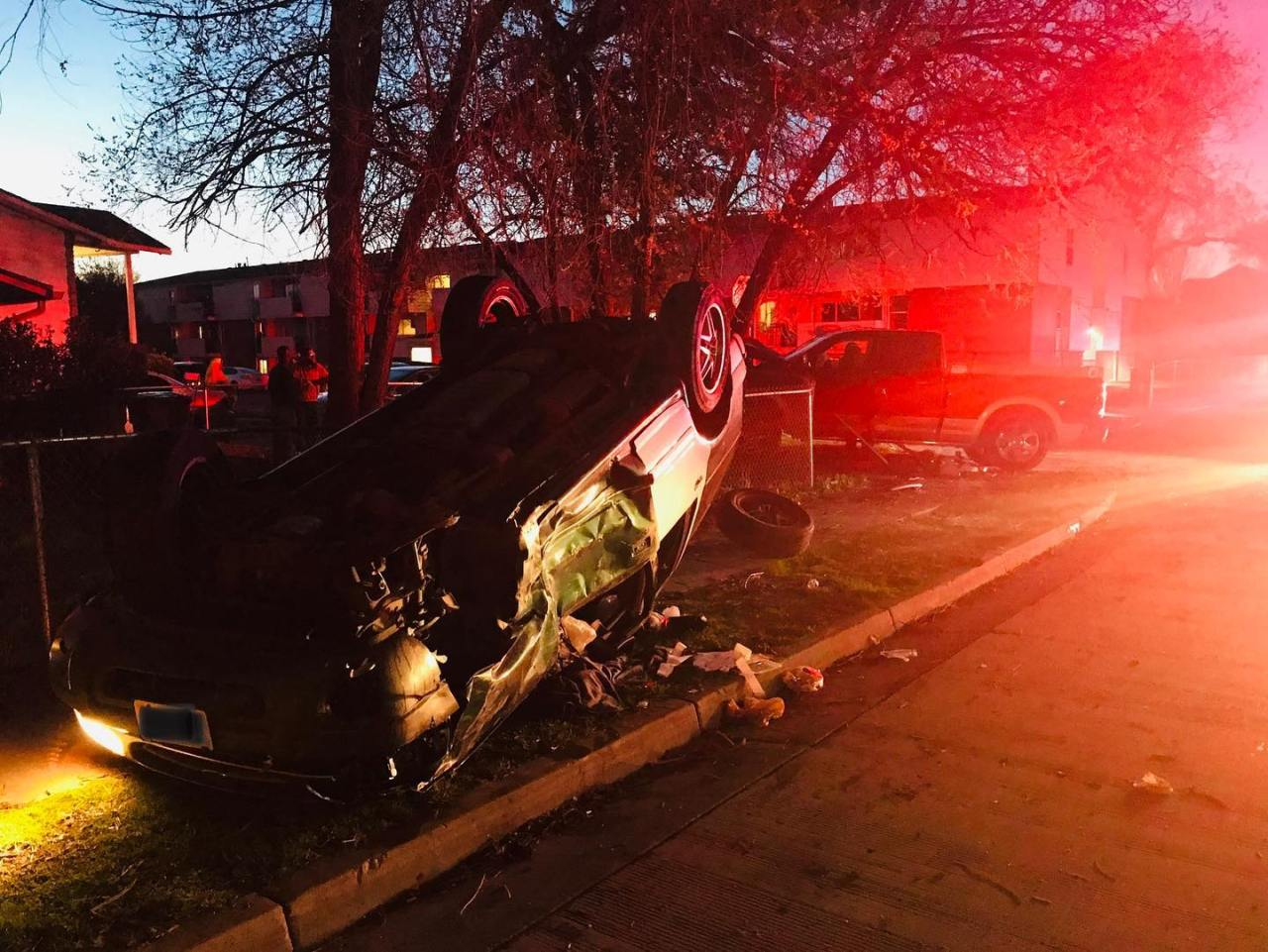 One car flips, another hits tree in Salt Lake City crash