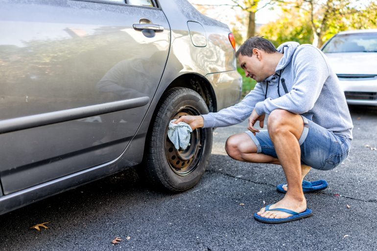 Car tires will lose pressure over time and also develop flat spots from the weight of the car resting on the same area.