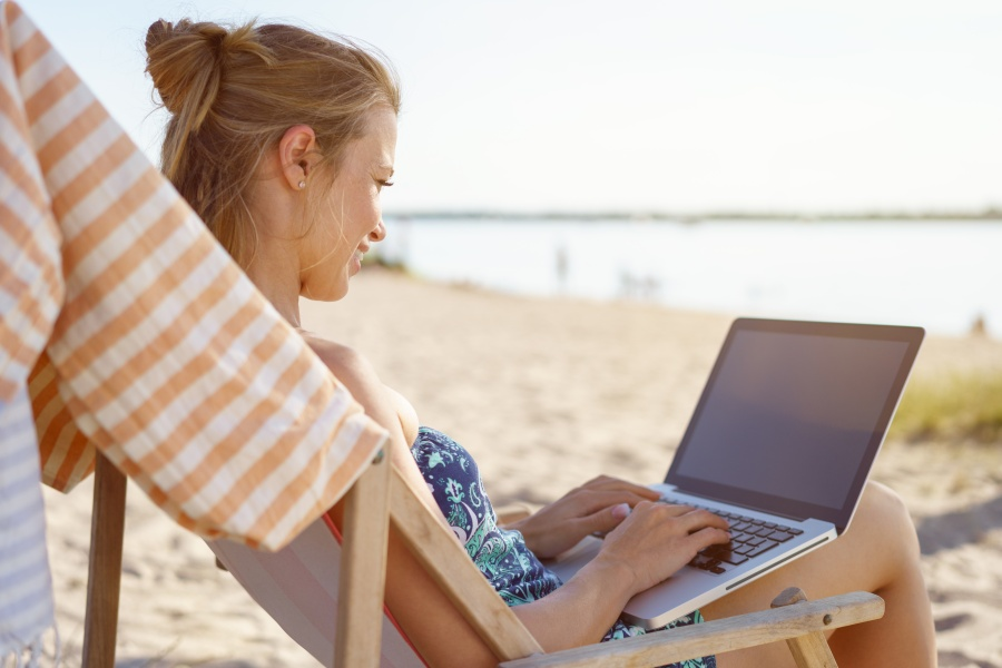 Learn online while on vacation