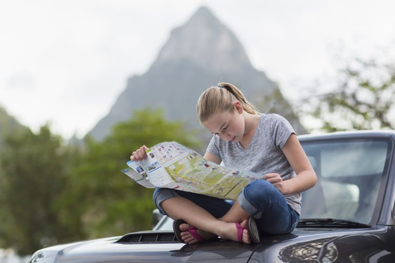 Paper maps can include useful information like scenic areas, hospitals, camping sites and seasonal road closures.