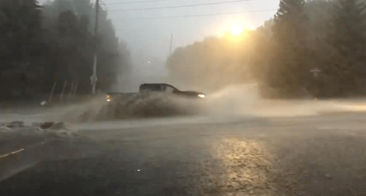 Heavy rain, 60 mph winds, lightning slam Davis County area