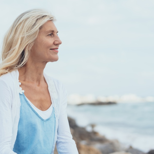 Older woman aging treatment