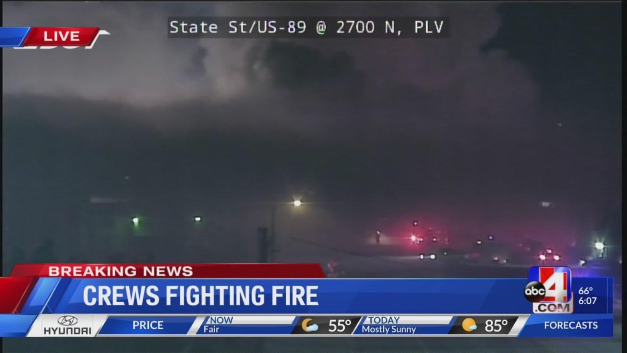 Crews fighting fire in Weber County near US 89