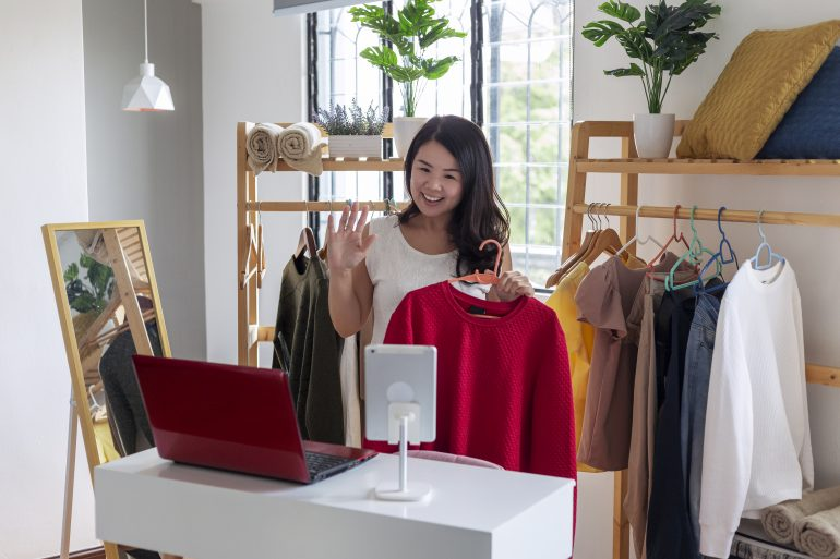 Shopping livestreams might start out with just a few viewers at a time, but often more people watch the rebroadcasts, which remain online and can be seen at a viewer's convenience.