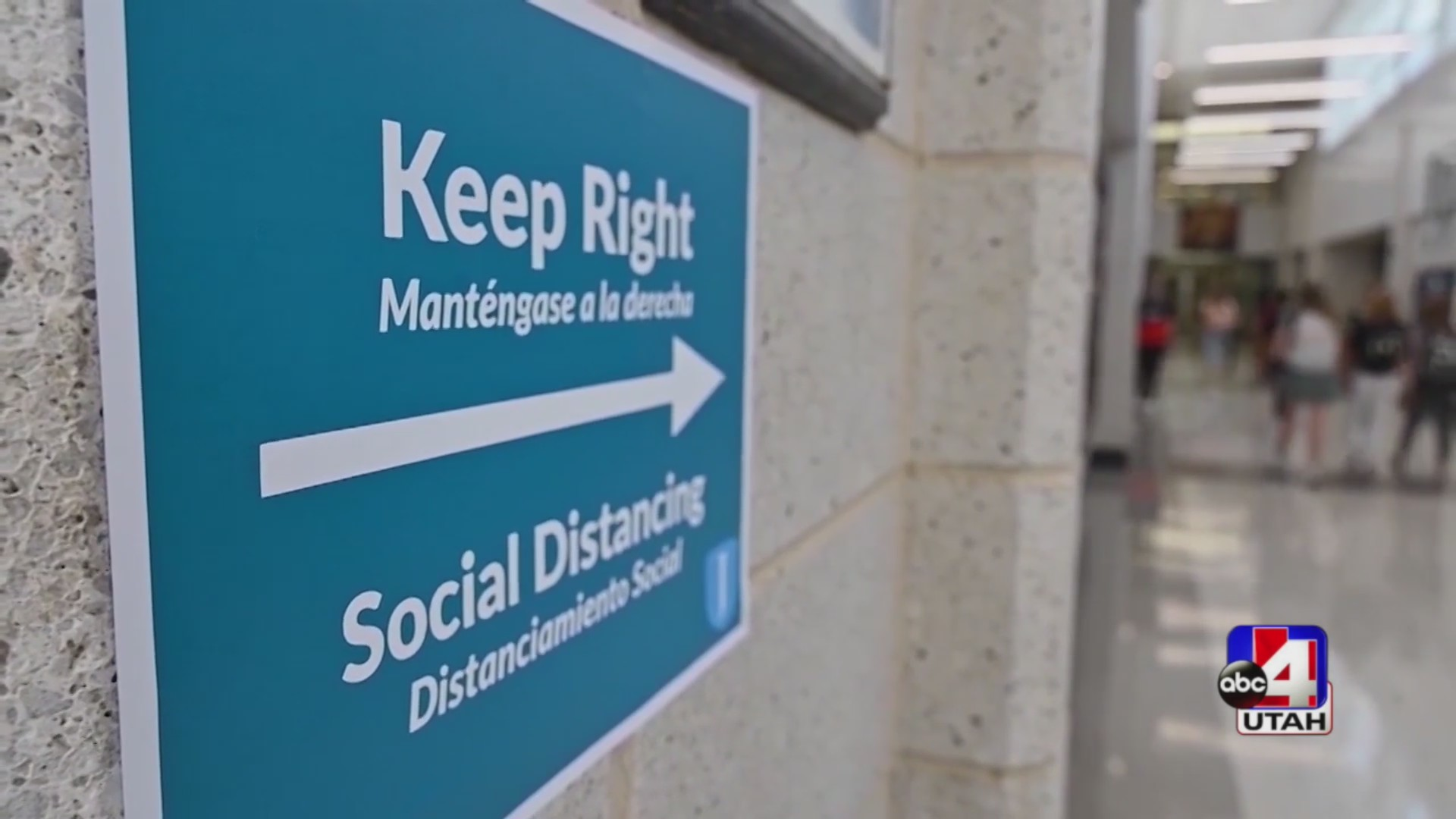 Safety sign for social distancing